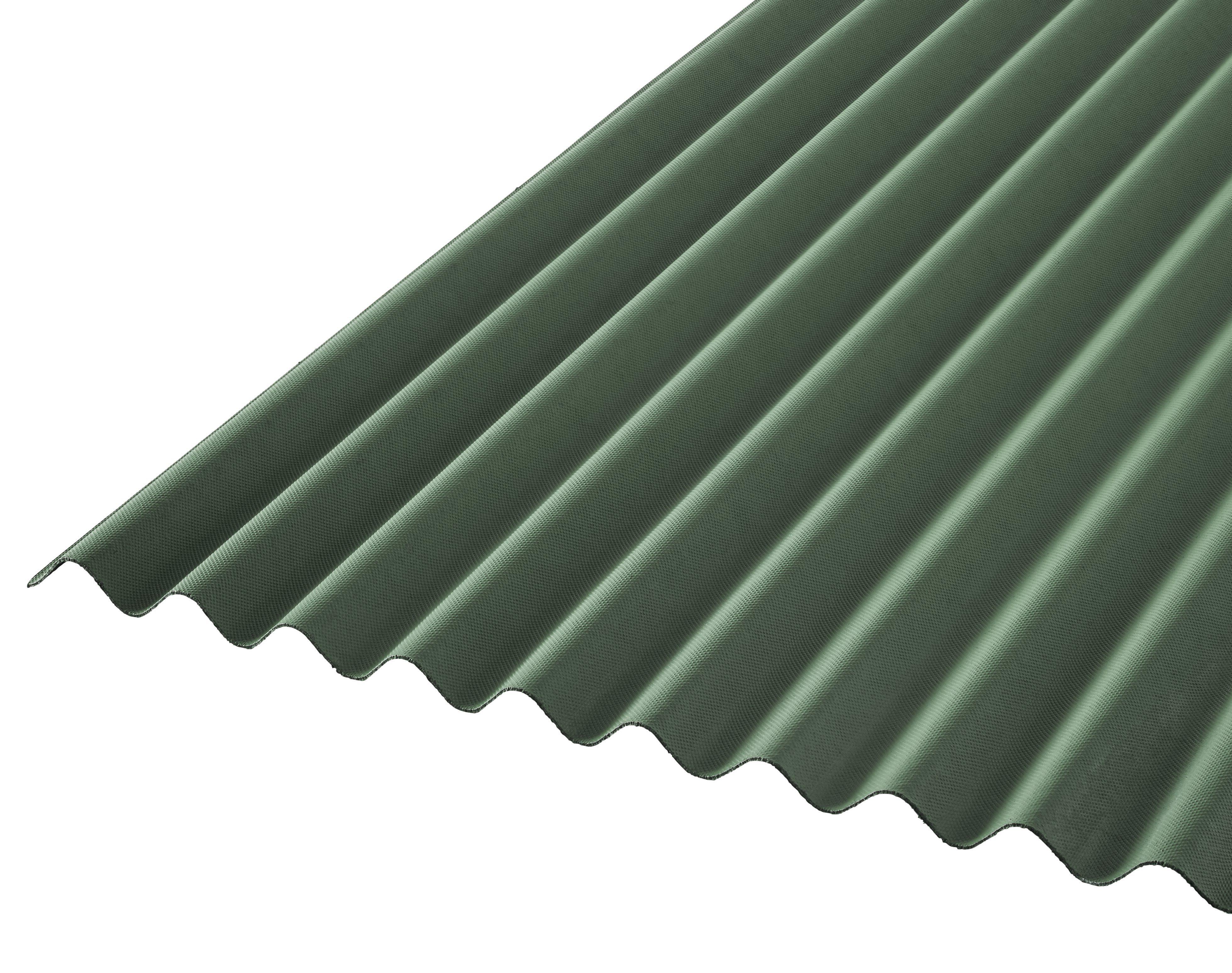 Green Bitumen Corrugated Roofing Sheet 2m X 930mm
