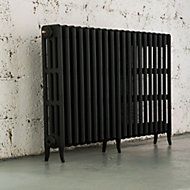 Arroll Neo-Classic 4 Column radiator, Black primer (W)1234mm (H)760mm