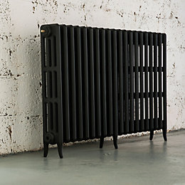 Arroll Neo-Classic 4 Column Radiator, Black Primer (W)1234mm