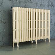Arroll Neo-Classic 4 Column radiator, Cream (W)1234mm (H)760mm