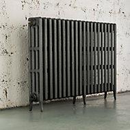 Arroll Neo-Classic 4 Column radiator, Cast grey (W)1114mm (H)760mm