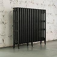 Arroll Neo-Classic 4 Column radiator, Pewter (W)874mm (H)760mm