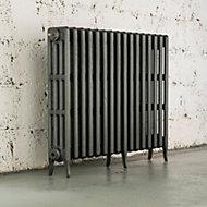 Arroll Neo-Classic 4 Column radiator, Cast grey (W)874mm (H)760mm
