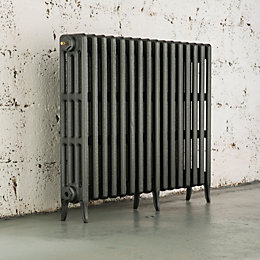 Arroll Neo-Classic 4 Column radiator, Cast grey (W)874mm