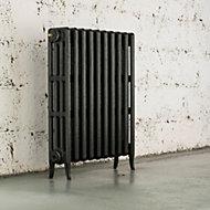 Arroll Neo-Classic 4 Column radiator, Pewter (W)754mm (H)760mm