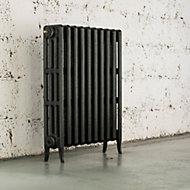 Arroll Neo-Classic 4 Column radiator, Pewter (W)634mm (H)760mm