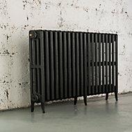 Arroll Neo-Classic 4 Column radiator, Pewter (W)1234mm (H)660mm