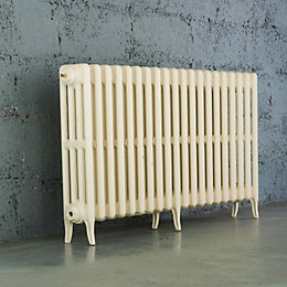 Arroll Neo-Classic 4 Column radiator, Cream (W)1234mm (H)660mm