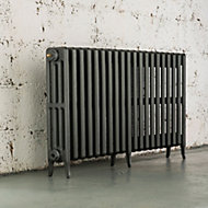 Arroll Neo-Classic 4 Column radiator, Cast grey (W)1234mm (H)660mm