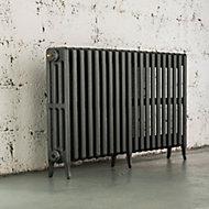 Arroll Neo-Classic 4 Column radiator, Cast grey (W)1114mm (H)660mm