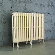 Arroll Neo-Classic 4 Column radiator, Cream (W)874mm (H)660mm