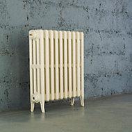 Arroll Neo-Classic 4 Column radiator, Cream (W)754mm (H)660mm