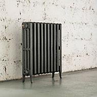 Arroll Neo-Classic 4 Column radiator, Cast grey (W)754mm (H)660mm