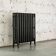 Arroll Neo-Classic 4 Column radiator, Pewter (W)634mm (H)660mm