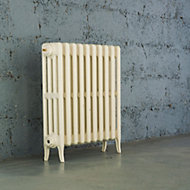 Arroll Neo-Classic 4 Column radiator, Cream (W)634mm (H)660mm