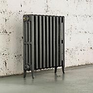 Arroll Neo-Classic 4 Column radiator, Cast grey (W)634mm (H)660mm