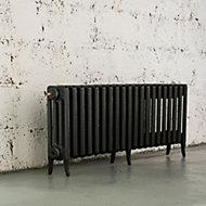 Arroll Neo-Classic 4 Column radiator, Pewter (W)1234mm (H)460mm