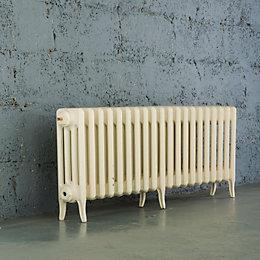 Arroll Neo-Classic 4 Column radiator, Cream (W)1234mm (H)460mm
