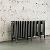 Arroll Neo-Classic 4 Column radiator, Cast grey (W)1234mm (H)460mm