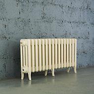 Arroll Neo-Classic 4 Column radiator, Cream (W)994mm (H)460mm