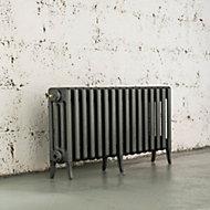 Arroll Neo-Classic 4 Column radiator, Cast grey (W)994mm (H)460mm