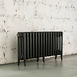 Arroll Neo-Classic 4 Column radiator, Pewter (W)874mm (H)460mm