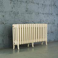 Arroll Neo-Classic 4 Column radiator, Cream (W)874mm (H)460mm