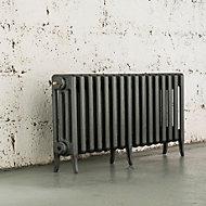Arroll Neo-Classic 4 Column radiator, Cast grey (W)874mm (H)460mm