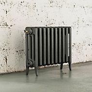 Arroll Neo-Classic 4 Column radiator, Cast grey (W)754mm (H)460mm