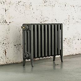 Arroll Neo-Classic 4 Column radiator, Cast grey (W)634mm