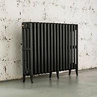 Arroll Neo-Classic 4 Column radiator, Anthracite (W)994mm (H)660mm