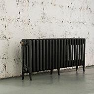 Arroll Neo-Classic 4 Column radiator, Anthracite (W)1234mm (H)460mm