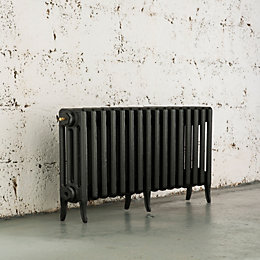 Arroll Neo-Classic 4 Column radiator, Anthracite (W)874mm