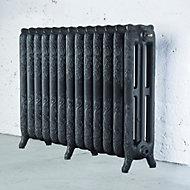 Arroll Montmartre 3 Column radiator, Pewter (W)1074mm (H)760mm