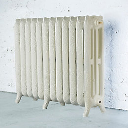 Arroll Montmartre 3 Column radiator, Cream (W)994mm (H)760mm