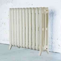 Arroll Montmartre 3 Column radiator, Cream (W)914mm (H)760mm