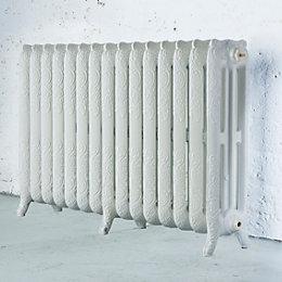 Arroll Montmartre 3 Column radiator, White (W)1234mm (H)760mm