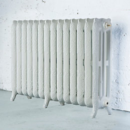 Arroll Montmartre 3 Column radiator, White (W)1154mm (H)760mm