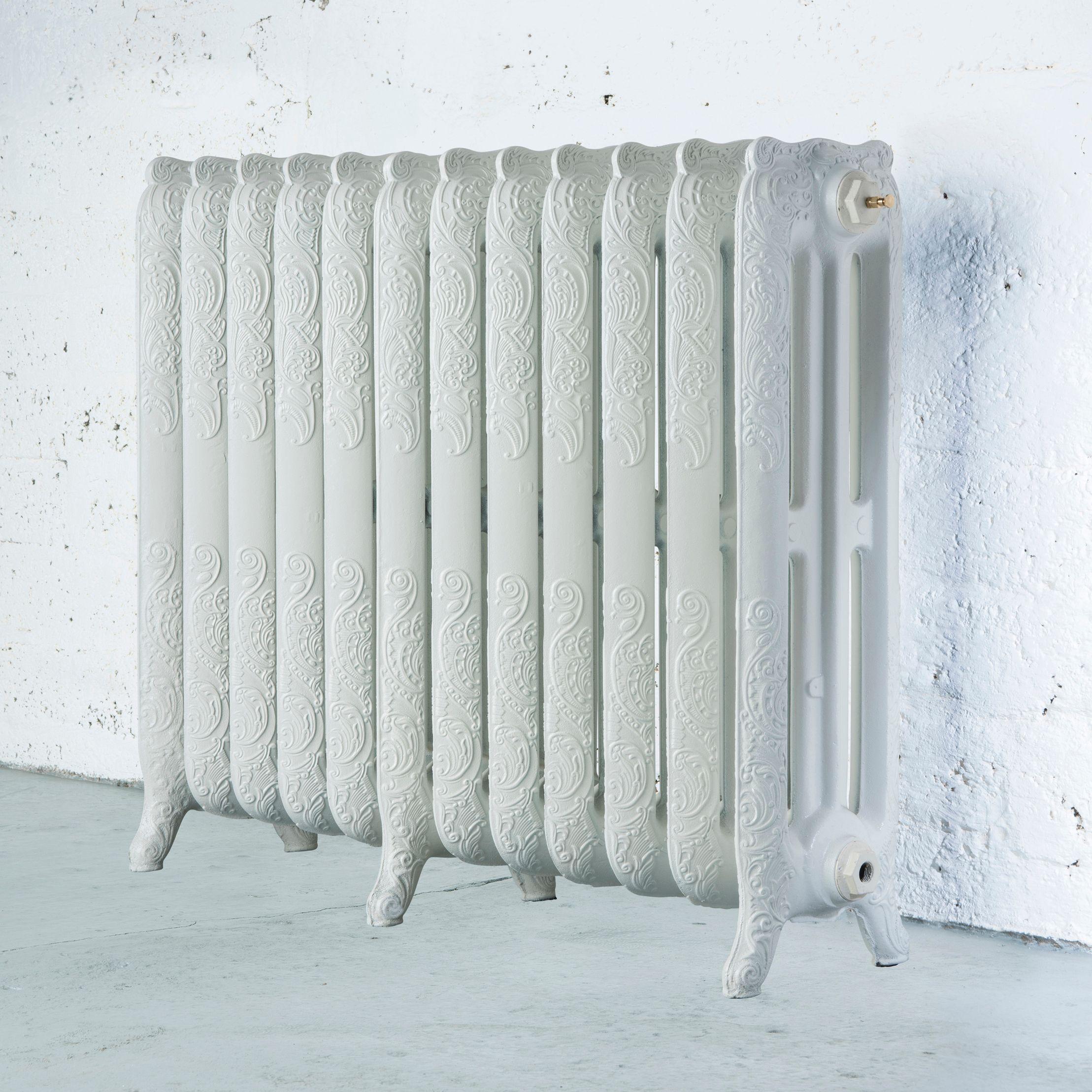 Arroll Montmartre 3 Column radiator, White (W)994mm (H)760mm