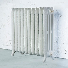 Arroll Montmartre 3 Column Radiator, White (W)834mm (H)760mm