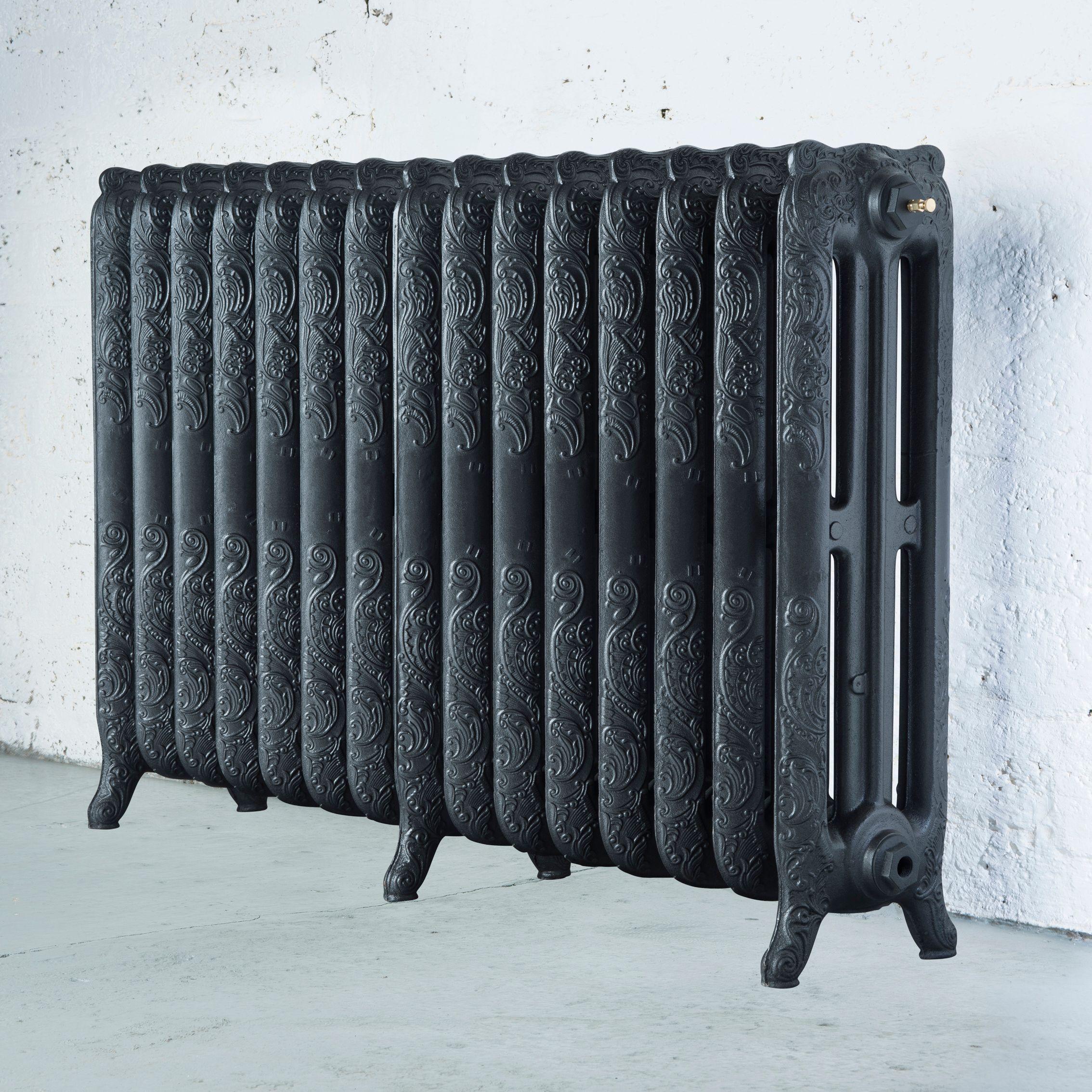 Arroll Montmartre 3 Column radiator, Anthracite (W)1234mm