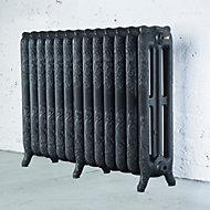 Arroll Montmartre 3 Column radiator, Anthracite (W)1074mm (H)760mm
