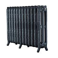 Arroll Montmartre 3 Column radiator, Anthracite (W)994mm (H)760mm