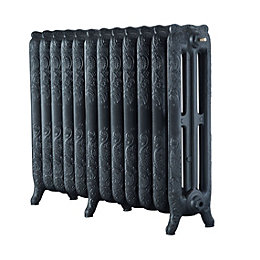 Arroll Montmartre 3 Column radiator, Anthracite (W)994mm (H)760mm