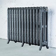 Arroll Montmartre 3 Column radiator, Cast grey (W)1074mm (H)760mm