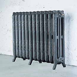 Arroll Montmartre 3 Column Radiator, Cast Grey (W)994mm