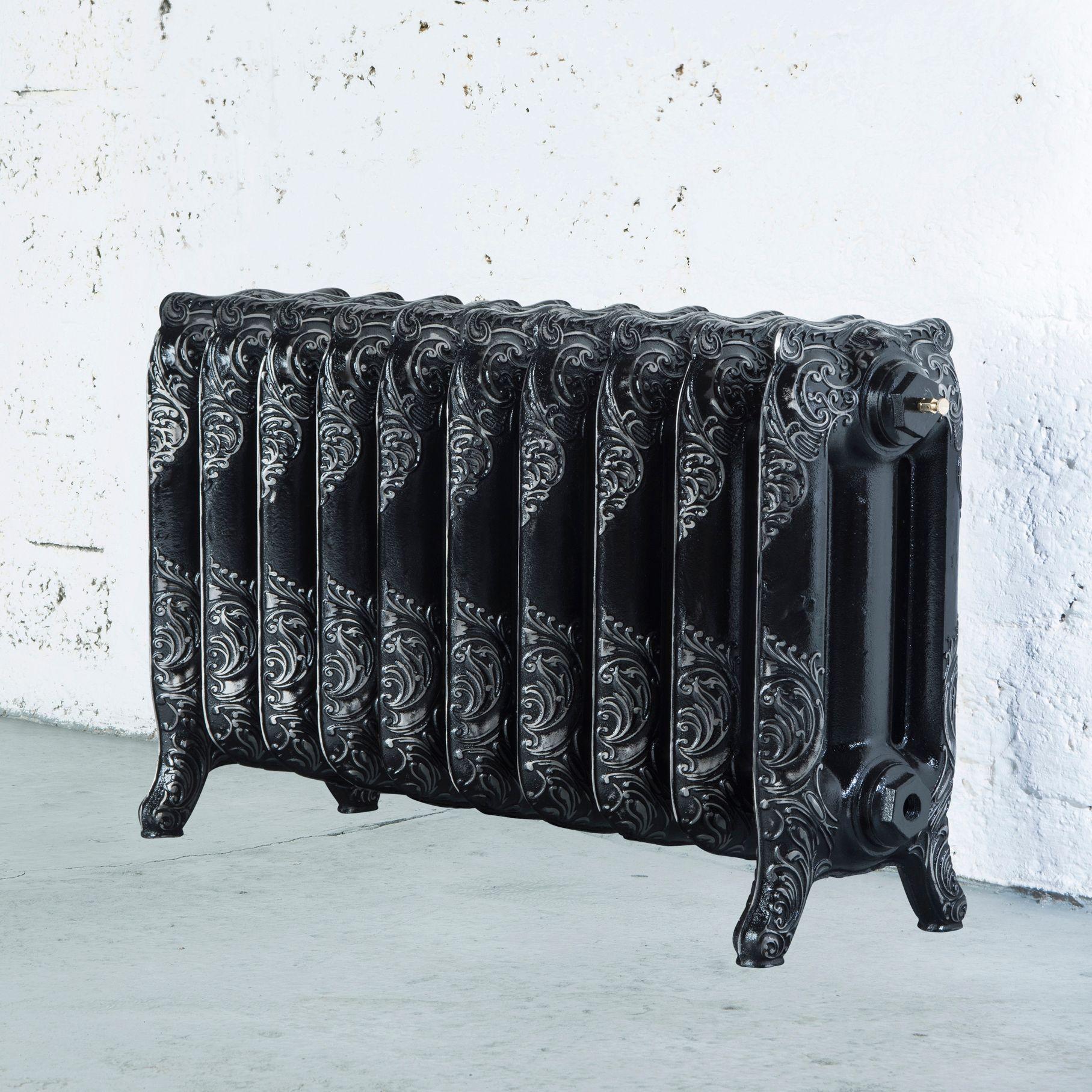 Arroll Montmartre 3 Column radiator, Black & silver