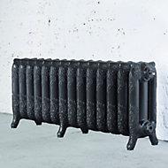 Arroll Montmartre 3 Column radiator, Pewter (W)1154mm (H)470mm