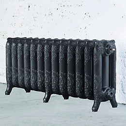 Arroll Montmartre 3 Column Radiator, Pewter (W)1074mm (H)470mm