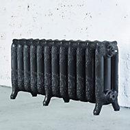 Arroll Montmartre 3 Column radiator, Pewter (W)994mm (H)470mm